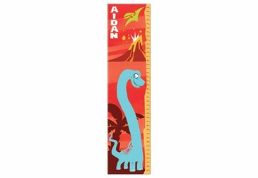 Dinosaur Growth Chart Personalized - Red