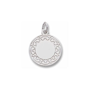 Disc Charm with Border by Forever Charms - Personalized