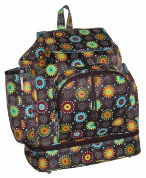 Doodle Bugs Chocolate - Diaper Bag Backpack by Kalencom