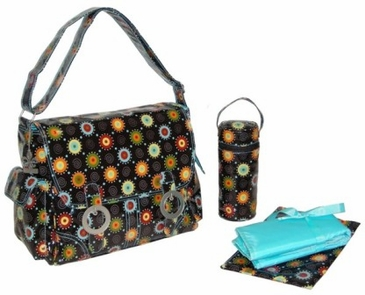 Doodle Bugs Chocolate - Double Buckle Diaper Bag by Kalencom