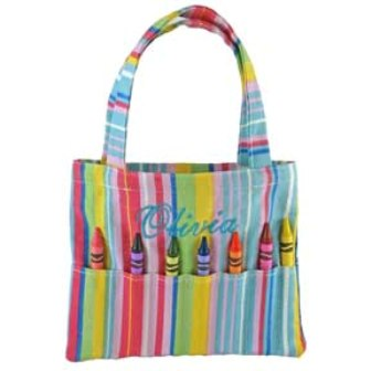 Doodlebugz Pink Striped Crayon Purse
