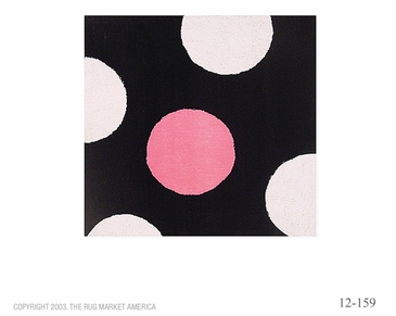 Dot Pink Flannel Rug