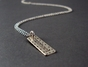 Dotted Sterling Silver Tag Necklace - click to Enlarge