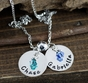Double Charms Name Necklace - click to Enlarge
