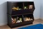 Double Storage Unit - Espresso - click to Enlarge