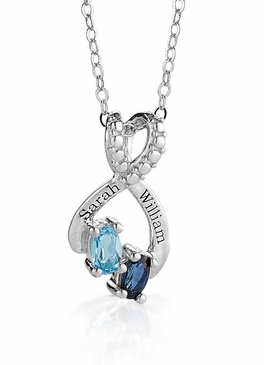 Dovetail Birthstone Necklace