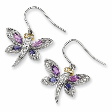 Dragon Diamond Amethyst Earrings