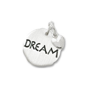 Dream Tag with Heart Charm by Forever Charms - Personalized