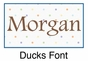 "Duck Canvas Wall Art Personalized - 10"" x 24"" - click to Enlarge"