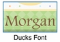 """Duck Canvas Wall Art Personalized - 15"""" x 15"""" - click to Enlarge"""