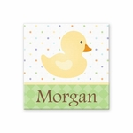 "Duck Canvas Wall Art Personalized - 15"" x 15"""