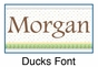 Ducks Growth Chart Personalized - click to Enlarge
