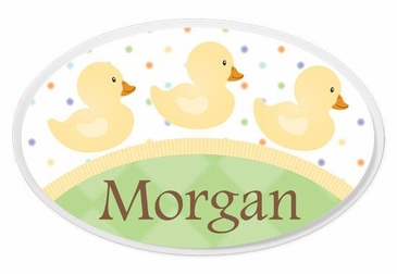 Ducks Oval Wall Plaque Personalized