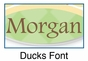 Ducks Oval Wall Plaque Personalized - click to Enlarge