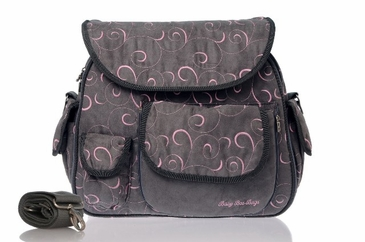 Eglan - Pink Swirl Diaper Bag by Baby Bee Bags