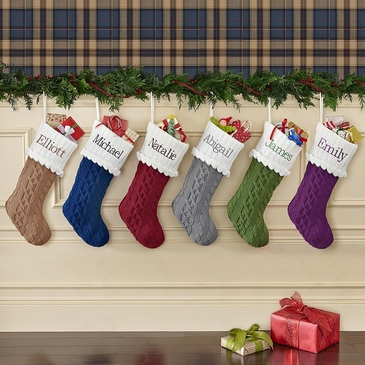 Elegant Knit Christmas Stocking