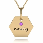 Elegant Name Charm Necklace