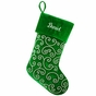 Elegant Silver Beadwork Christmas Stockings - Personalized - click to Enlarge