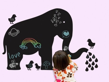 Elephant Chalkboard Peel & Place Wall Art