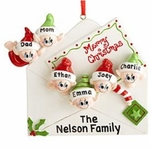 Elf Surprise Family Ornament