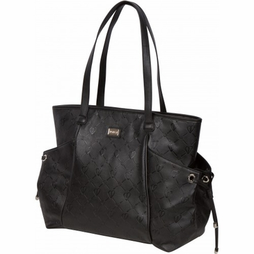 Embossed Black Diaper Bag by Bumble Bags