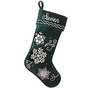 Embroidered and Beaded Snowflakes Christmas Stockings - Personalized - click to Enlarge