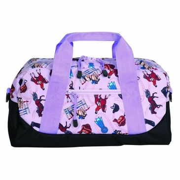 English Riding Purple Kids Duffel Bag