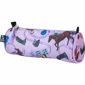 English Riding Purple Kids Pencil Case Set