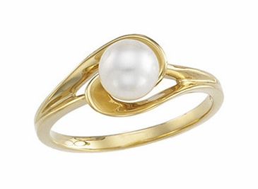 Entwined Akoya Pearl Ring