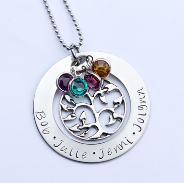 Eternal Love Family Tree Necklace (up to 5 names)