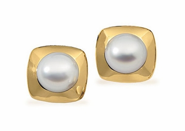 Ethereal earrings set in South sea cultured pearl