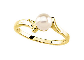 Exotic Akoya Pearl Ring