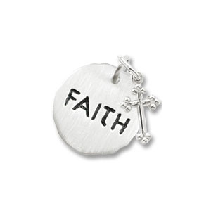Faith Tag with Cross Charm by Forever Charms - Personalized