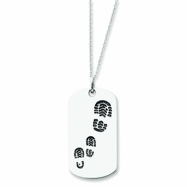Family Footprints Necklace