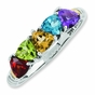 Family Love Antiqued Birthstone Ring - click to Enlarge