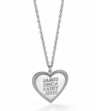 Family Love Heart Pendant Necklace