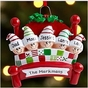 Family Snuggle Personalized Ornament - Hand Painted - click to Enlarge