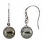 Fancy Diamond Earring with Tahitian Pearl - click to Enlarge
