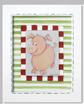 Farmer Frankie - Pig Framed Canvas Wall Art
