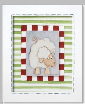 Farmer Frankie - Sheep Framed Canvas Wall Art