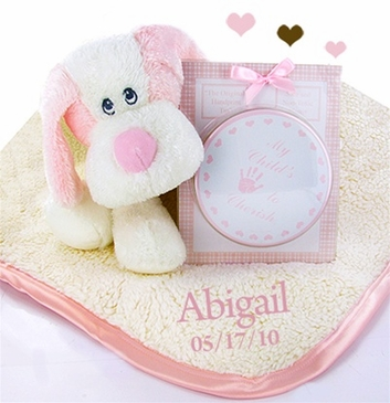 Fattamano Personalized Blanket Gift Set for Girl