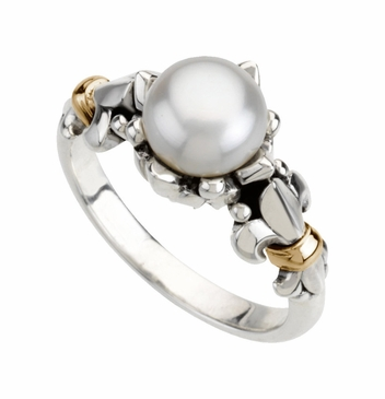 Feminine Charm Freshwater Cultured Pearl Ring