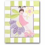 Flower Fairies - Fairy Brunette Canvas Wall Art