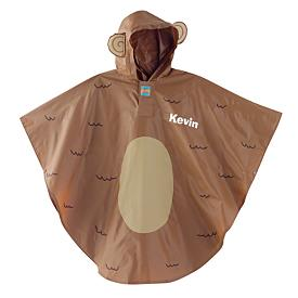 Flower or Monkey Kids Rain Poncho