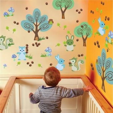 Forest Friends Peel & Place Wall Art