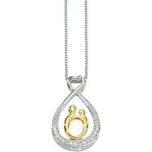Forever Mother and Child Diamond Necklace