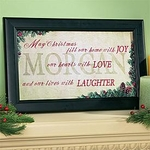 Framed Christmas Art - Personalized with Your Family Name
