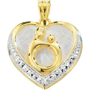 Framed in Love Mother and Child Pendant