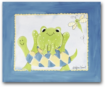 Freddy Frog - Frog & Turtle Canvas Wall Art