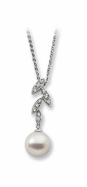 Freshwater Pearl and Diamond Necklace